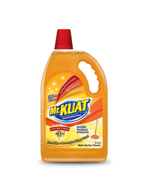 mr kuat surface cleaner product shot shine clean