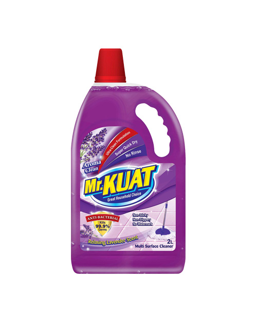 mr kuat surface cleaner product shot aroma clean 2 liter