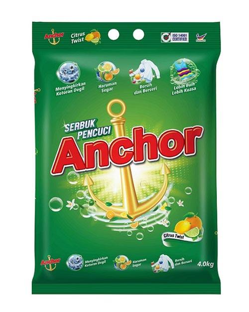 anchor detergent powder product shot citrus twist