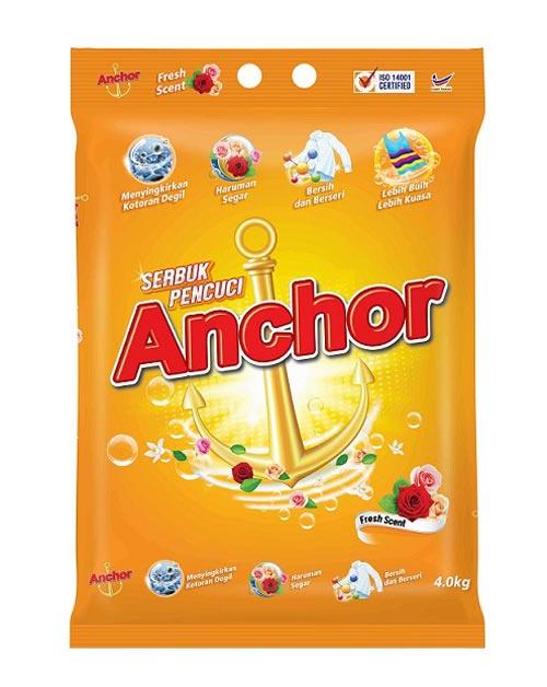 anchor detergent powder product shot fresh scent