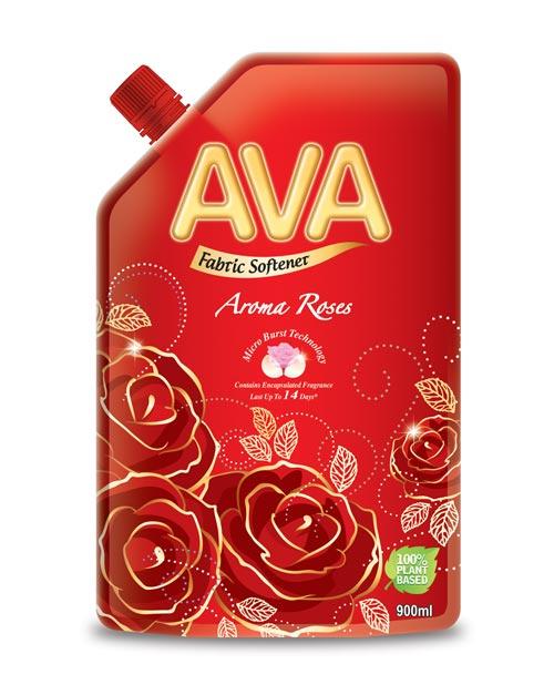 ava fabric softener product shot aroma roses 900ml