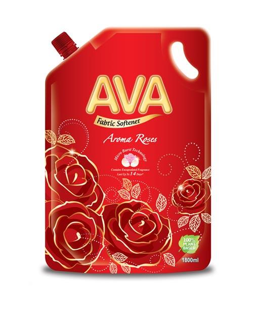 ava fabric softener product shot aroma roses refill 1800ml