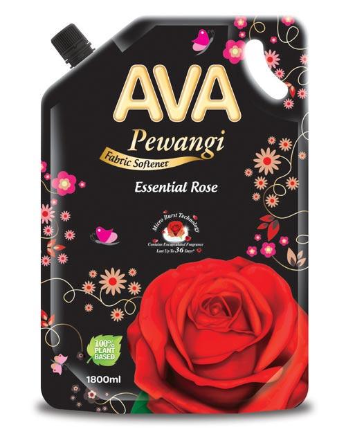 ava pewangi fabric softener product shot essential rose 1800ml