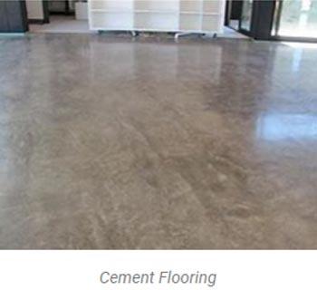 cement flooring