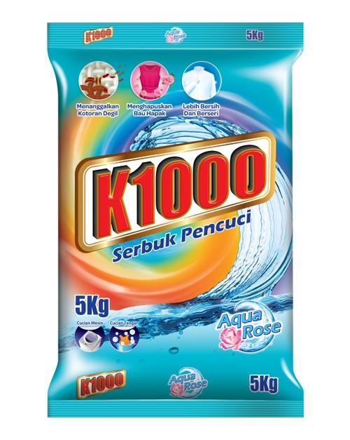 K1000 Aqua Rose detergent powder