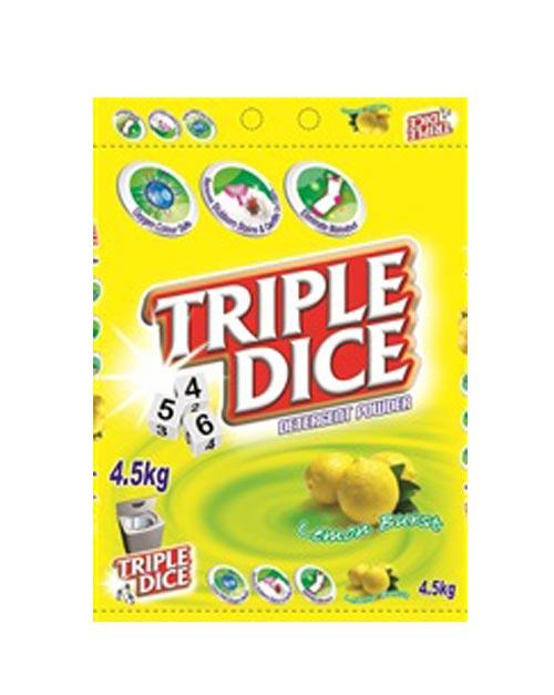 triple dice detergent powder-product shot lemon burst