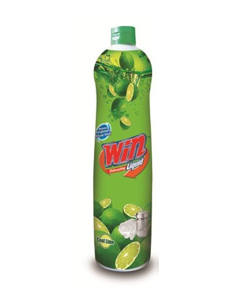 win dishwashing liquid product shot cool lime