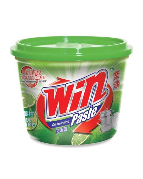 win dishwashing paste product shot cool lime 800g