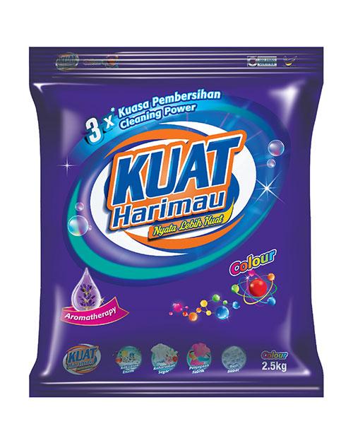 harimau kuat powder detergent colour