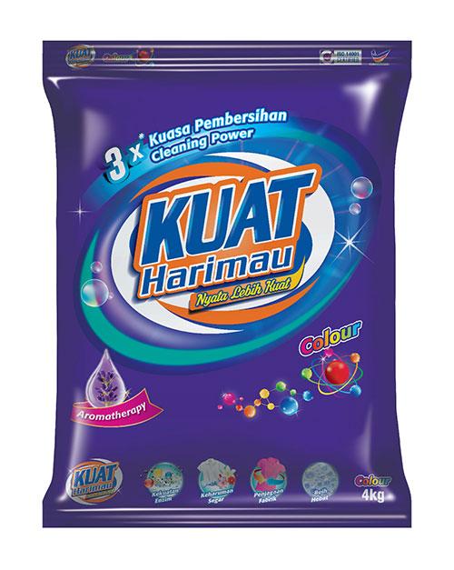 harimau kuat powder detergent colour 4kg