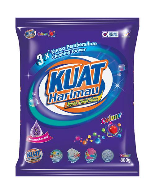harimau kuat powder detergent colour 800g