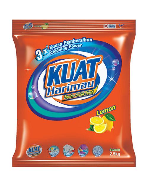 harimau kuat powder detergent lemon