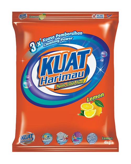 harimau kuat powder detergent lemon 4kg