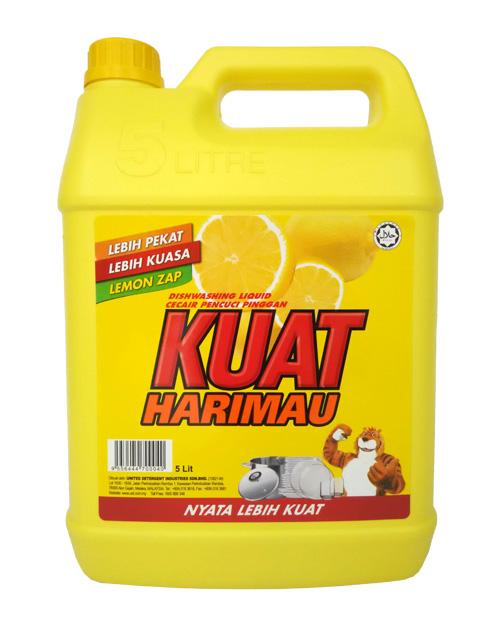 kuat harimau dish washing liquid lemon 5 liter