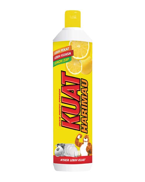 kuat harimau dish washing liquid lemon 500 ml