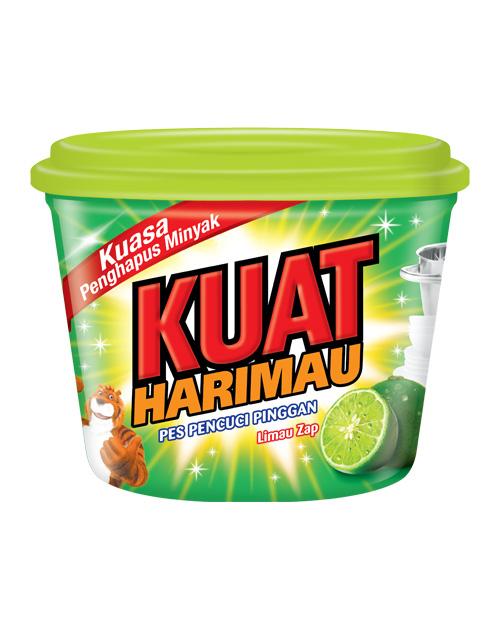 kuat harimau dish washing paste lime 750g