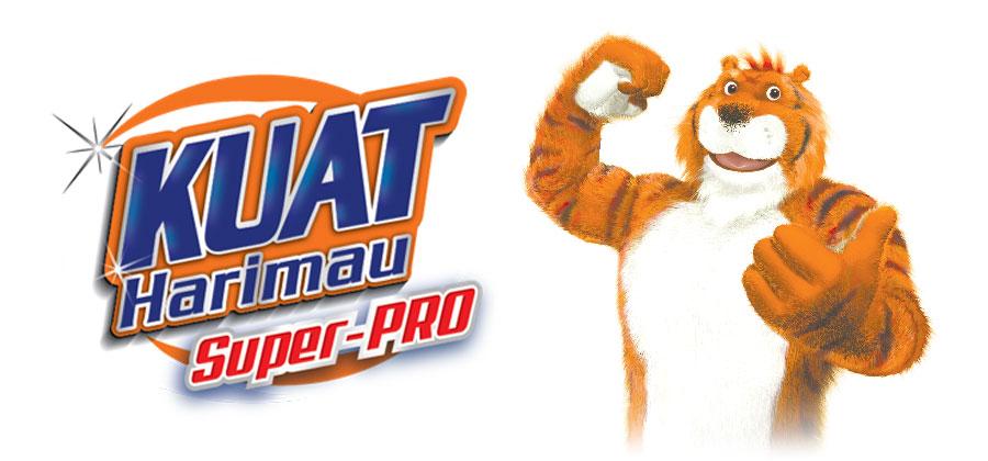 kuat harimau super pro detergent logo