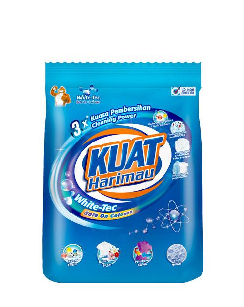 harimau kuat powder detergent pewangi white tec medium