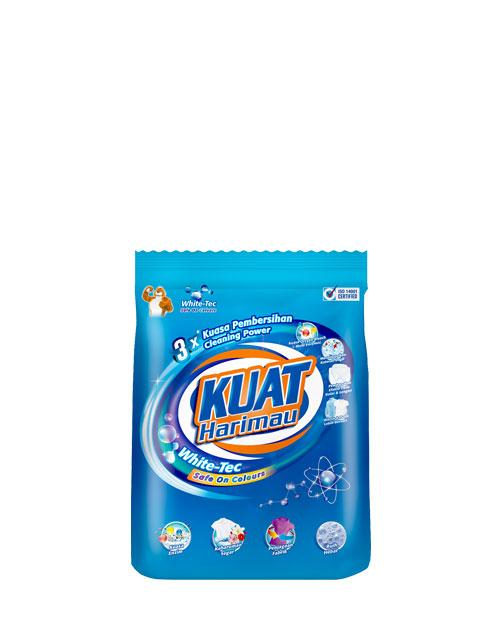 harimau kuat powder detergent pewangi white tec small