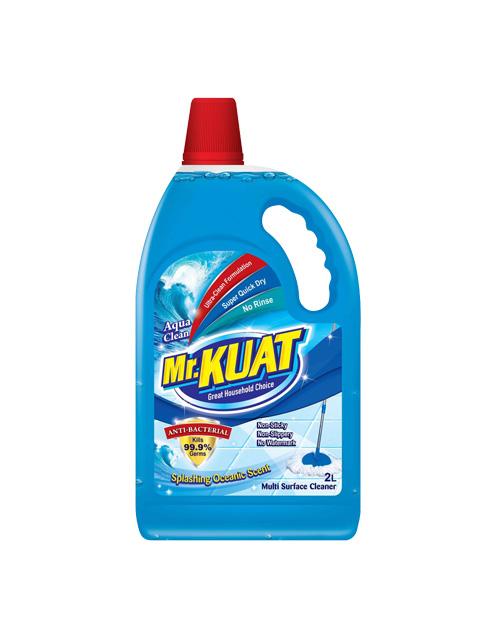 mr kuat surface cleaner product shot aqua clean 2 liter