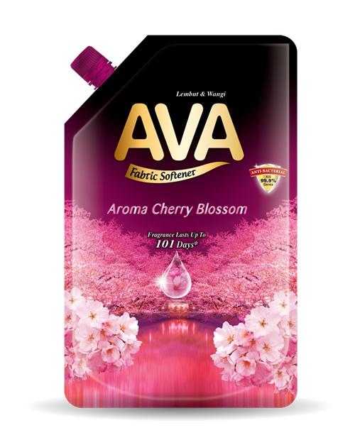 ava fabric softener product shot aroma cherry blossom